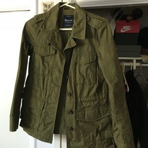 WORN Madewell Military Green Jacket